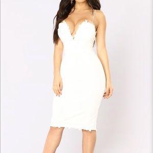 Fashion Nova White Dress NWT